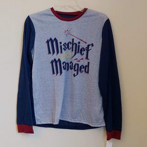 NWT Harry Potter Mischief Managed Long Sleeve Top